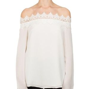 CAMI NYC Cameron Silk Long Sleeve Top XS
